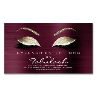Schönheits-Salon-GoldGlitter-Adressen-Make-up Visitenkartenmagnet