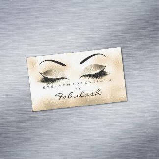 Schönheits-Salon-GoldGlitter-einbrennendes Make-up Magnetische Visitenkarten