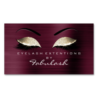 Schönheits-Salon-GoldGlitter-einbrennendes Make-up Visitenkartenmagnet