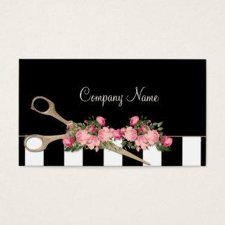 Schönheits-Salon-Haar-Studio-Rosen-Streifen-Mode Visitenkarte
