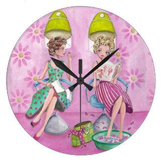 Schönheits-Salon-Mädchen - Uhr
