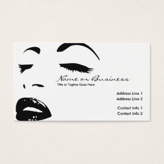 Schönheits-Silhouette Visitenkarte