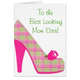 Schönste Mamma-hoher Heels Karte