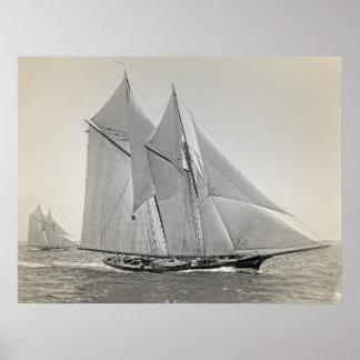 Schooner-Yacht Fortuna Poster