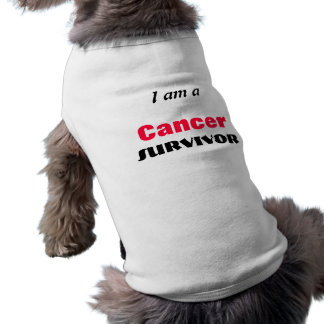 Schoßhund-Krebs-Überlebend-Mantel T-Shirt