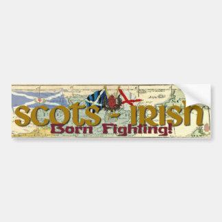 Schotte-Irisch - geborener Fighting! Autoaufkleber