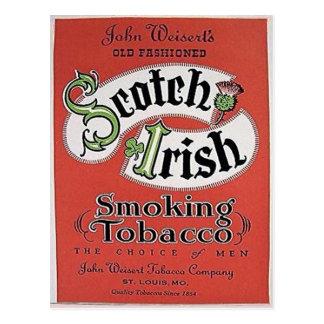 Schottisch-Irische Tabakpostkarte Postkarte