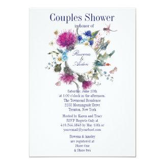 Schottische Distel-Blumenpaar-Polterabend 3 12,7 X 17,8 Cm Einladungskarte