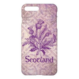 Schottische Distel-lila keltischer Knoten iPhone 7 Plus Hülle