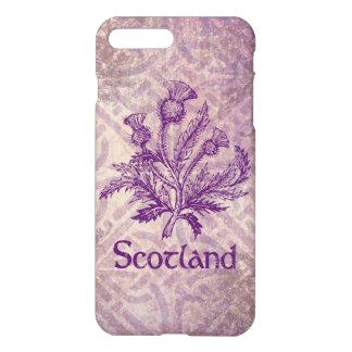 Schottische Distel-lila keltischer Knoten iPhone 8 Plus/7 Plus Hülle