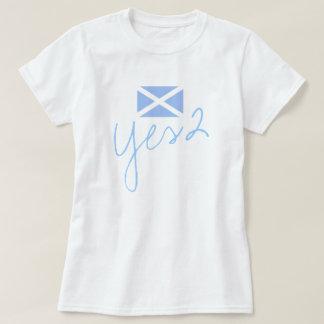 Schottische Flagge der Unabhängigkeits-Yes2 T-Shirt