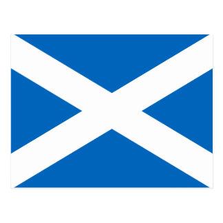 Schottische Flagge Quersalzes Schottlands St Postkarte