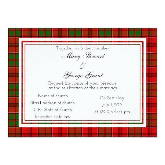 Schottische Hochzeits-Einladung Grants 14 X 19,5 Cm Einladungskarte