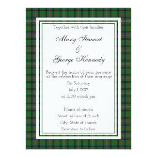 Schottische Hochzeits-Einladung Kennedys Karte