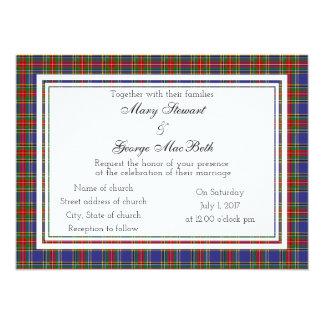 Schottische Hochzeits-Einladung Macbeth Karte