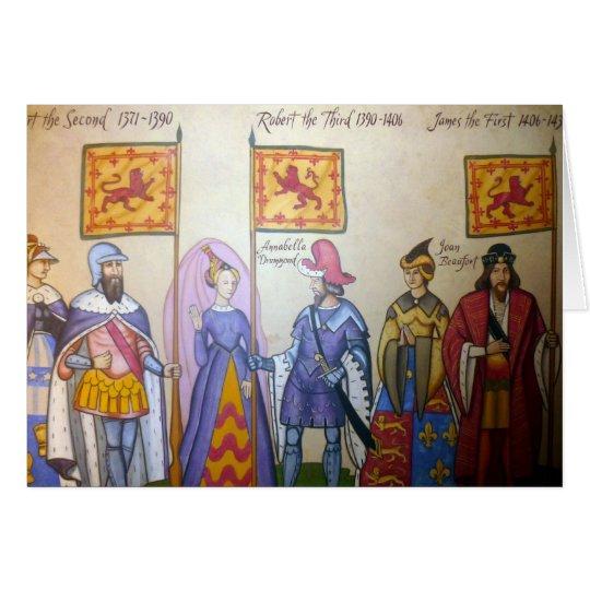 schottische Könige Grußkarte