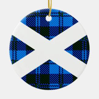 Schottische Tartan-Flagge Keramik Ornament