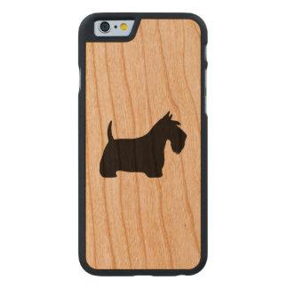 Schottische Terrier-Silhouette Carved® iPhone 6 Hülle Kirsche