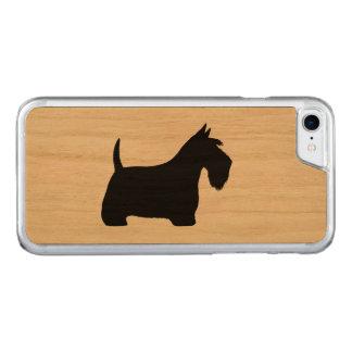Schottische Terrier-Silhouette Carved iPhone 8/7 Hülle