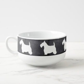 Schottische Terrier-Suppen-Tasse Große Suppentasse