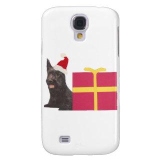 Schottische Terrier-Weihnachtsmannmütze Galaxy S4 Hülle