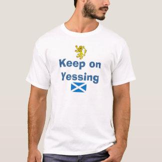 Schottische Unabhängigkeit behalten auf Yessing T-Shirt
