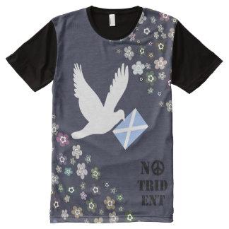 Schottische Unabhängigkeit keine T-Shirt Mit Komplett Bedruckbarer Vorderseite