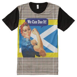 Schottische Unabhängigkeit können wir Dae es Rosie T-Shirt Mit Bedruckbarer Vorderseite