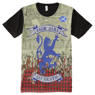 Schottische Unabhängigkeits-Erklärung von Arbroath T-Shirt Mit Komplett Bedruckbarer Vorderseite