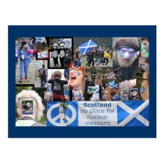 Schottische Unabhängigkeits-März-Postkarte