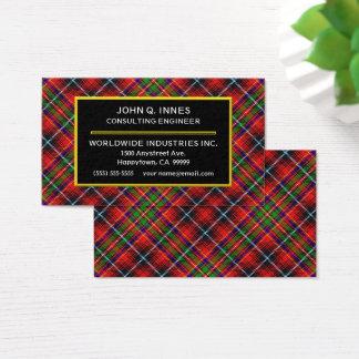 Schottischer Clan Innes Tartan kariert Visitenkarte