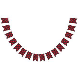 Schottischer Clan Lindsay roter und grüner Tartan Wimpelketten