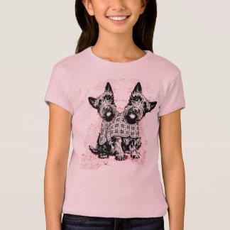 Schottischer Hundemädchen T - Shirt