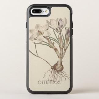Schottischer Krokus-botanische Illustration OtterBox Symmetry iPhone 7 Plus Hülle