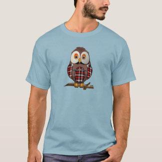 Schottischer Tartan-Eulen-T - Shirt