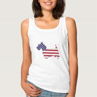 """Schottischer Terrier - """"amerikanische Flagge """" Tank Top"""