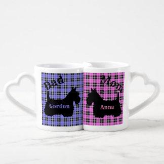 Schottischer Terrier, kariertes rosa/Blau, Mamma Liebestassen