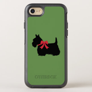 Schottischer Terrier mit roter Bogen-Silhouette OtterBox Symmetry iPhone 8/7 Hülle