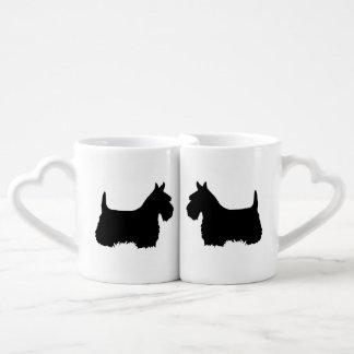 Schottischer Terrier, Schottland-Hund, Silhouette Liebestassen