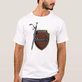 Schottisches Clan Munroe Munro Tartan-Schild und T-Shirt