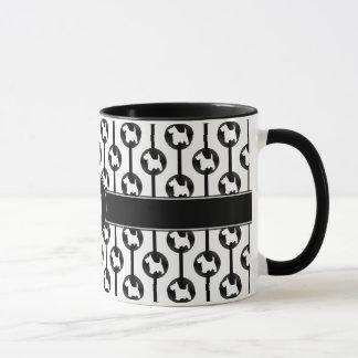 Schottisches Terrier-HundePunkt-Monogramm Tasse