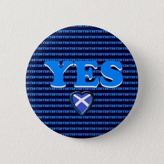 Schottisches Unabhängigkeits-ja Runder Button 5,7 Cm