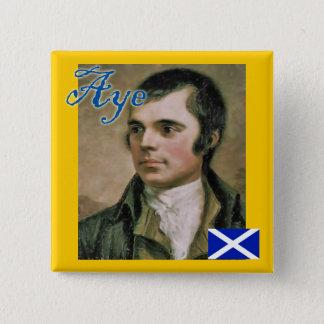 Schottisches Unabhängigkeits-Robert-Brand-ja Quadratischer Button 5,1 Cm
