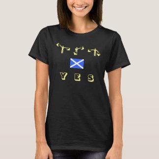 Schottisches Unabhängigkeits-Semaphor-ja T-Shirt