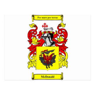 (Schottisches) Wappen McDonald Postkarte