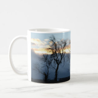Schottisches Winter-Waldland Kaffeetasse