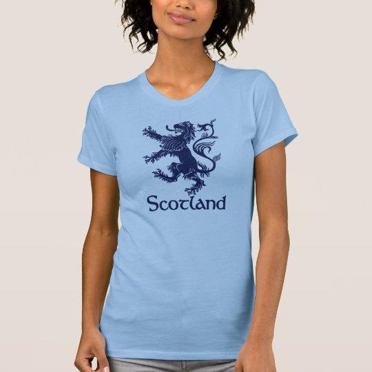 Schottisches zügelloses Löwe-Marine-Blau T-Shirt
