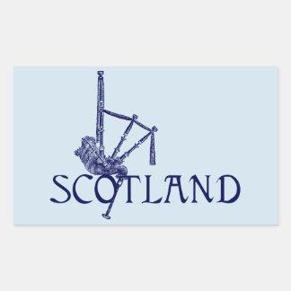 Schottland-Dudelsäcke, Scottish-Entwurf Rechteckiger Aufkleber