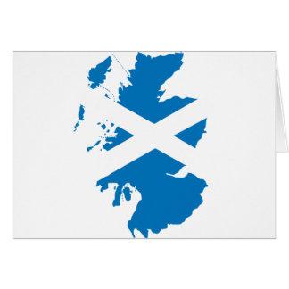 Schottland-Flaggenkarte Grußkarte