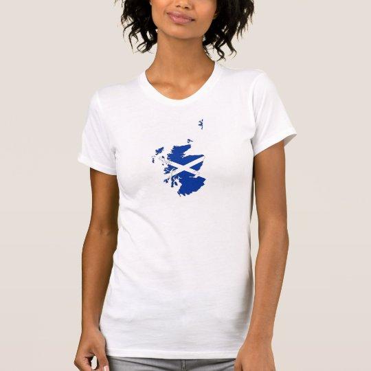 Schottland-Flaggenkartenkönigreich-Landform T-Shirt